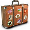 picture of a suitcase with travel stickers on it