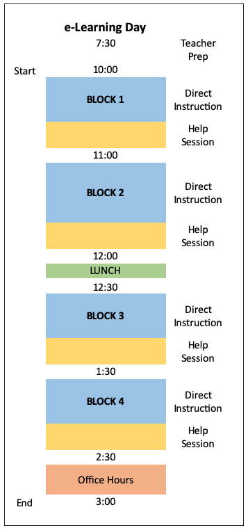 eLearning Day Schedule