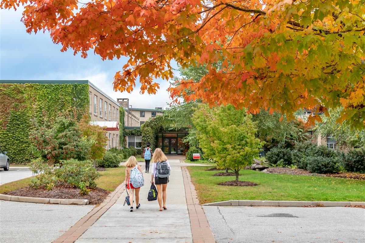Students walking on South Campus