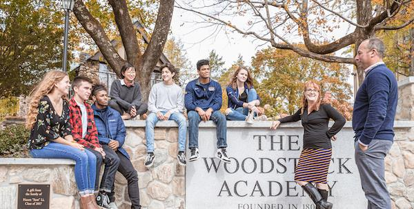 Students at The Woodstock Academy