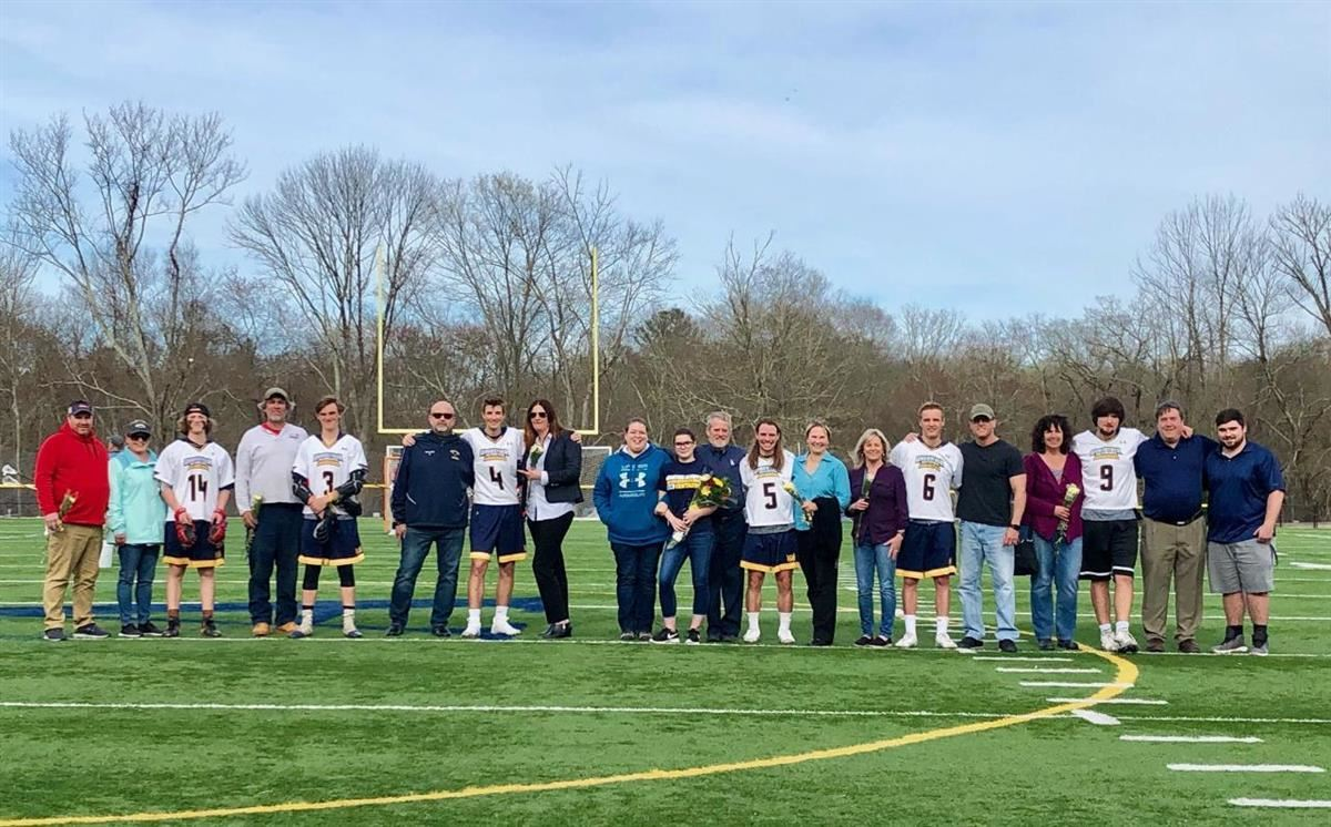 Woodstock Academy boys lacrosse celebrated Senior Day on Thursday