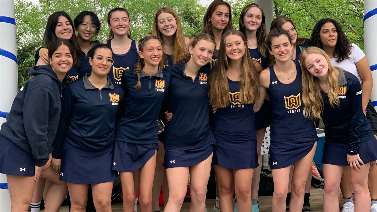 The Woodstock Academy girls tennis team is set to volley against ECC opponents