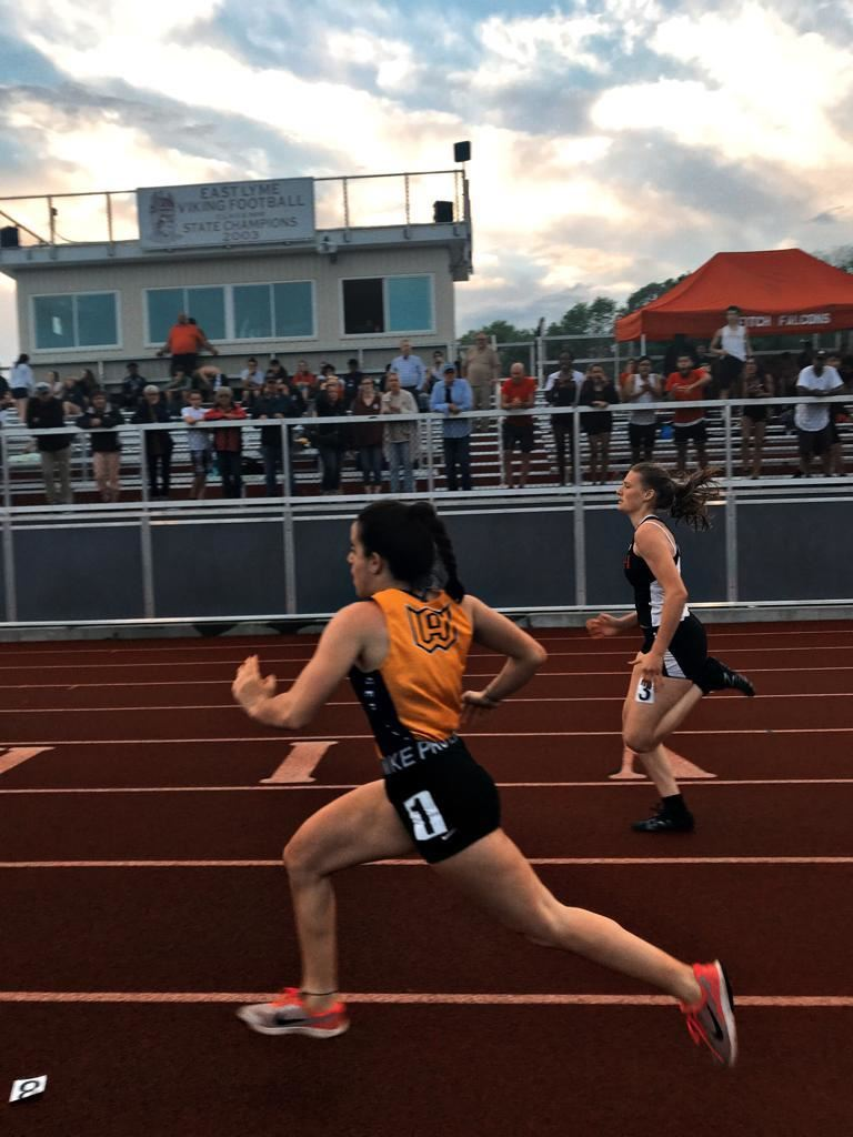 Marina Monrabal runs to victory in the 100m at the ECC championship meet