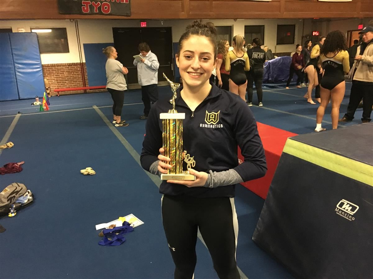 Woodstock Academy senior Jenna Davidson won the ECC individual championship for a second year in a row